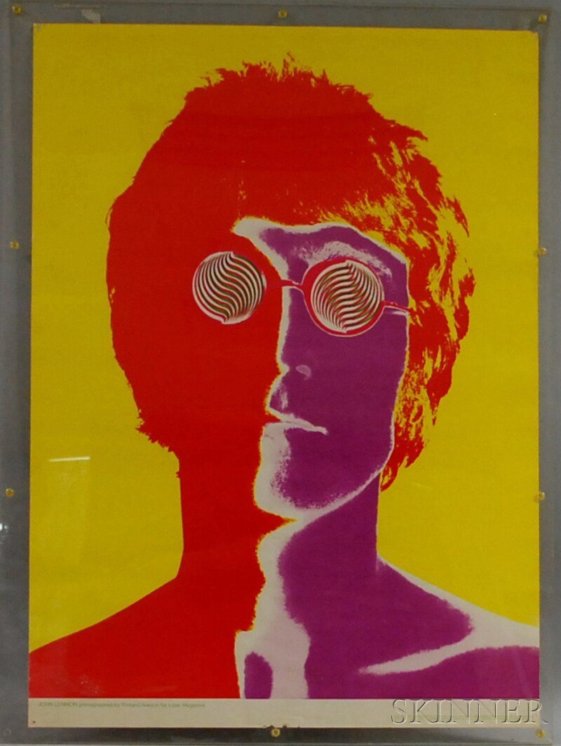 176: Framed Poster of John Lennon Photographed by Richa