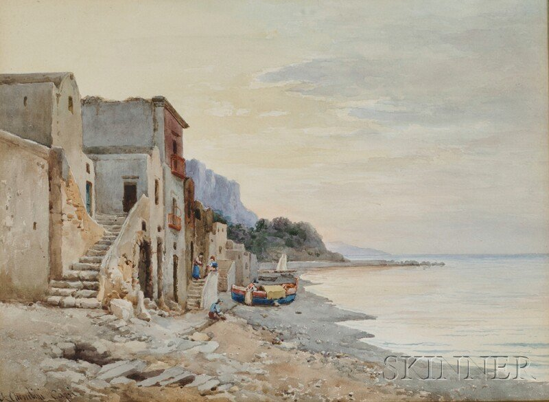 177: Andrea Cherubini (Italian, b. 1833) View of Fisher