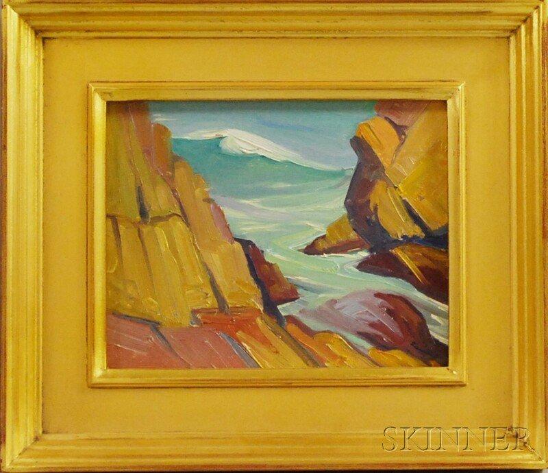 536: Elwyn George Gowen (American, 1895-1954) Wave (Ogu