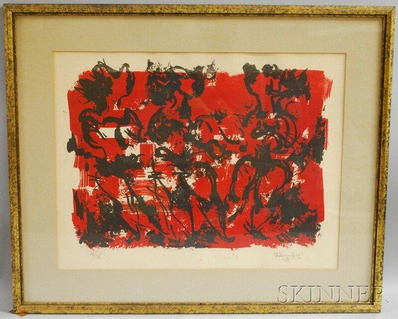 631: Chaim Gross (American, 1904-1991) Three Dancers. S