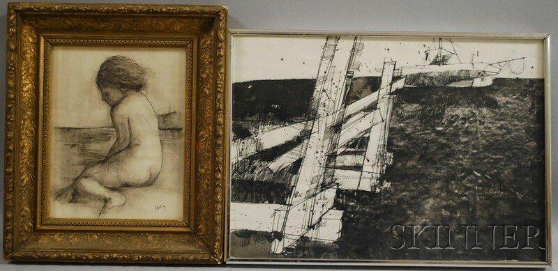 632: Two Works: Thomas Sgouros (American, b. 1927), Dea