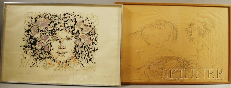 644: Sophie Fordon (American, 20th Century) Two Works o