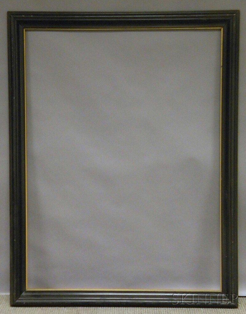 646: Ebonized Frame, rabbet size 48 3/8 x 36 1/4 in., (