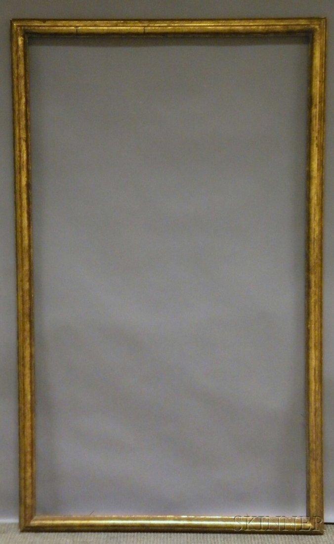 647: Gilt Carved Frame, rabbet 58 3/8 x 33 3/4 in., (lo