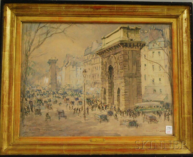 670: Fernand Truffaut (French, 1866-1955) Boulevard St.