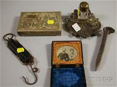 1245 Five Assorted Decorative and Collectible Items a