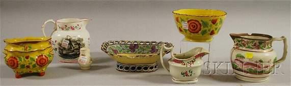 1358: Seven Assorted English Decorated Ceramics, three