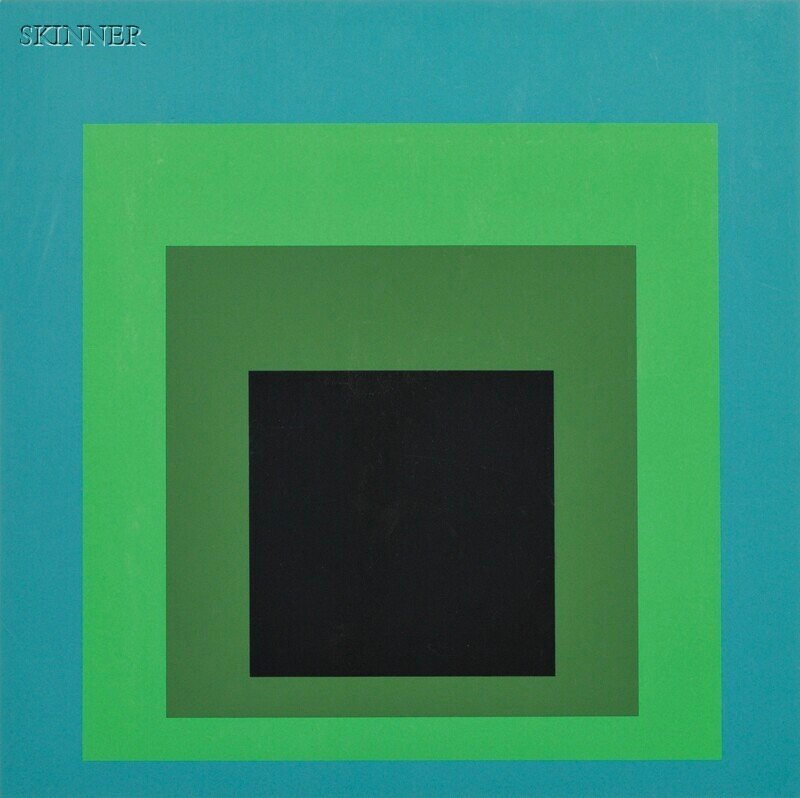 2: Josef Albers (German/American, 1888-1976) Two Images
