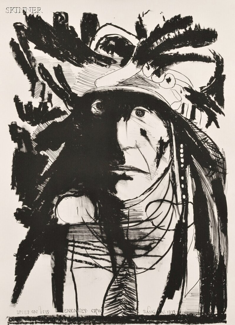 10: Leonard Baskin (American, 1922-2000) Three Native A