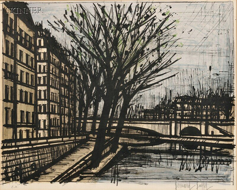 18: Bernard Buffet (French, 1928-1999) Paris, L'Ile Sai