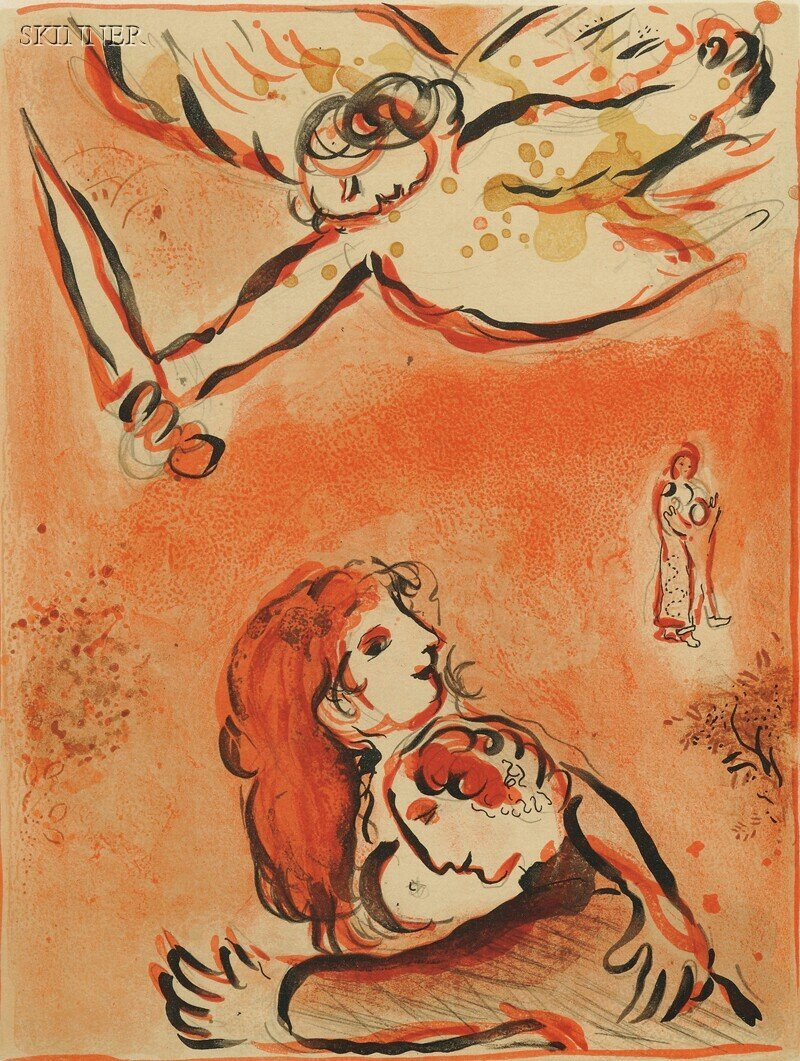 26: Marc Chagall (French/Russian, 1887-1985) Le Visage