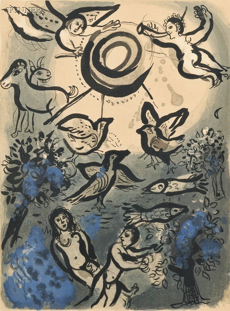 27: Marc Chagall (French/Russian, 1887-1985) Création f