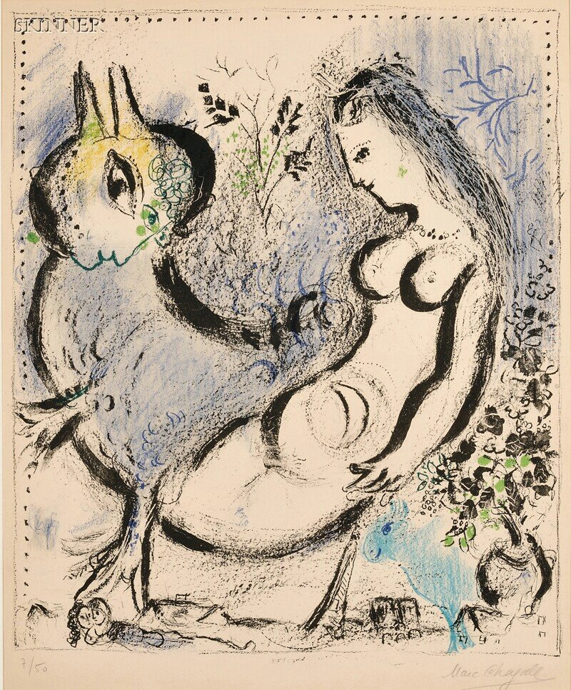 29: Marc Chagall (Russian/French, 1887-1985) La nymphe