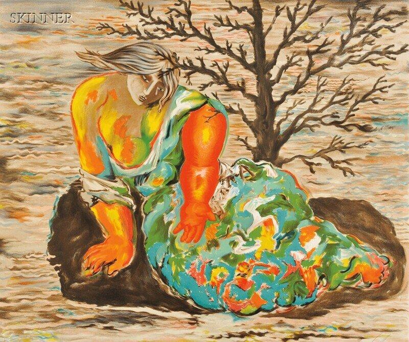 32: Sandro Chia (Italian, b. 1946) Crying Woman, editio