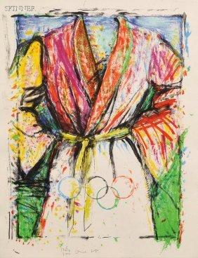 Jim Dine (American, B. 1935) Multicolored Robe For