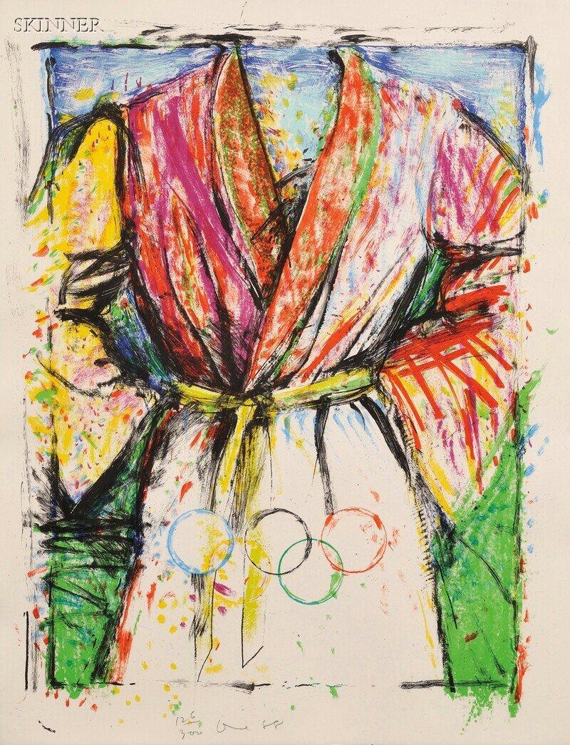 39: Jim Dine (American, b. 1935) Multicolored Robe for