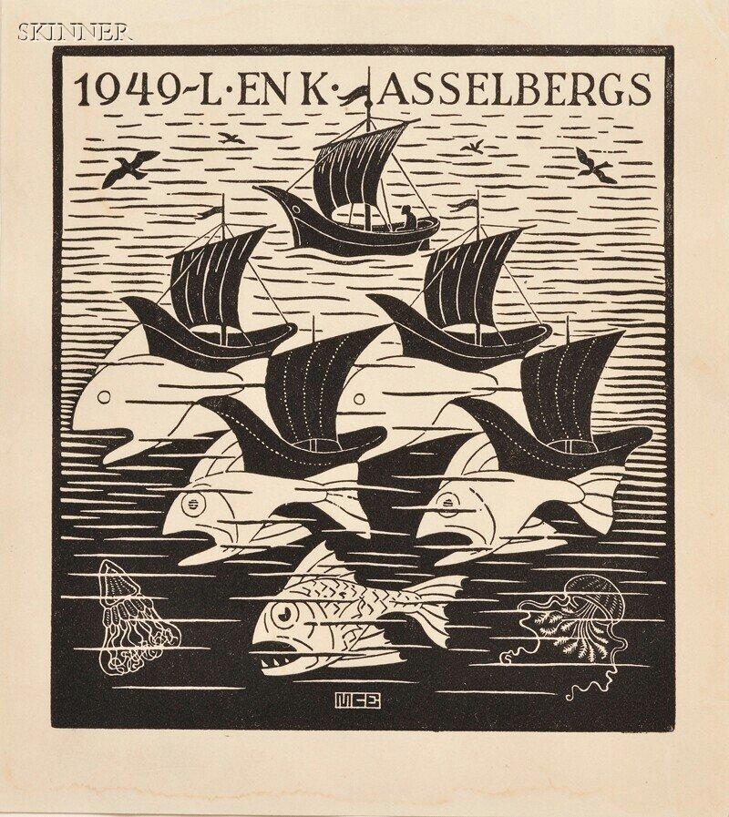 43: M. C. Escher (Dutch, 1898-1972) New Year's Greeting