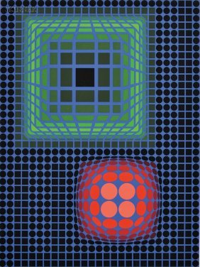 Victor Vasarely (French/Hungarian, 1906-1997) Unti