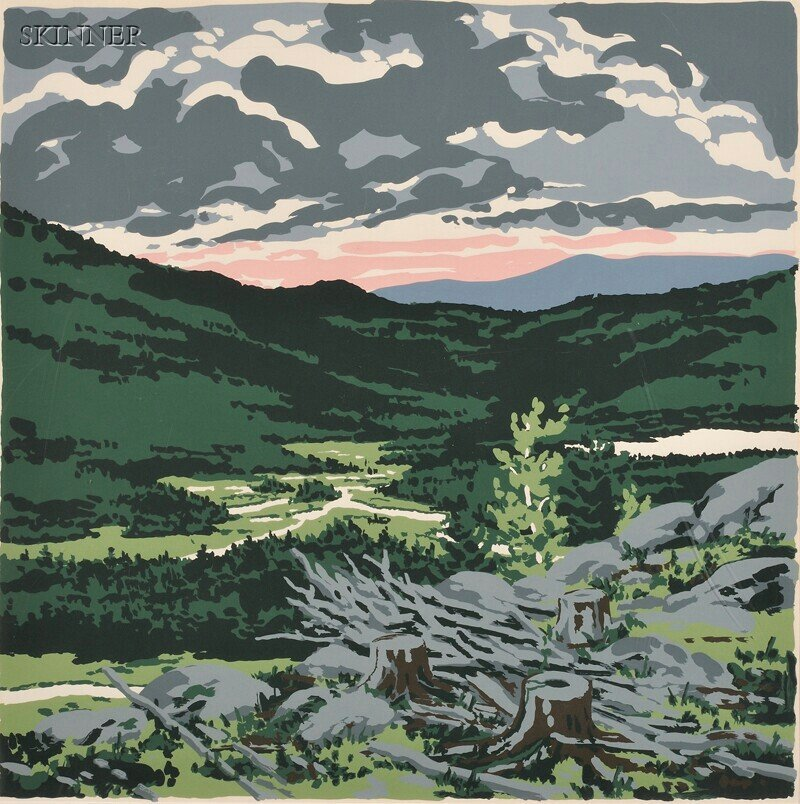 146: Neil Welliver (American, 1929-2005) Briggs Meadow