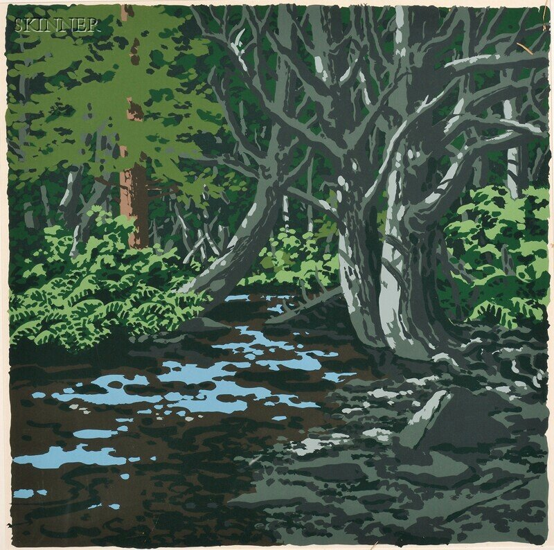 147: Neil Welliver (American, 1929-2005) Duck Trap, fro