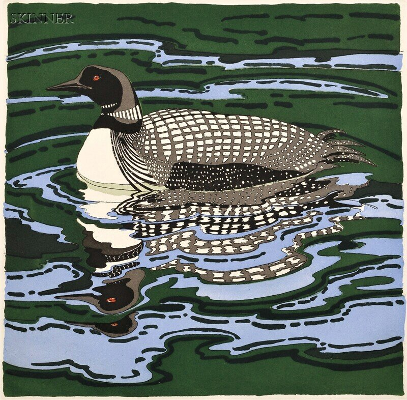 148: Neil Welliver (American, 1929-2005) Loon, 1988, ed
