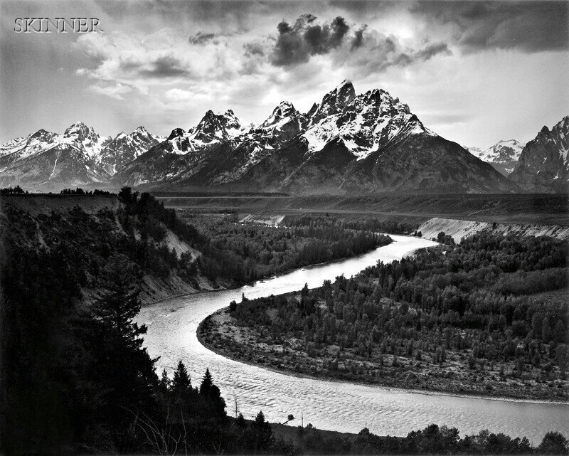 158: Ansel Adams (American, 1902-1984) The Tetons and t