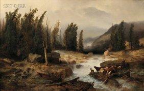 Richard Zimmermann (German, 1820-1875) The Old Bri
