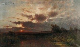 Franz Reder-Broili (German, 1854-1918) Marsh View
