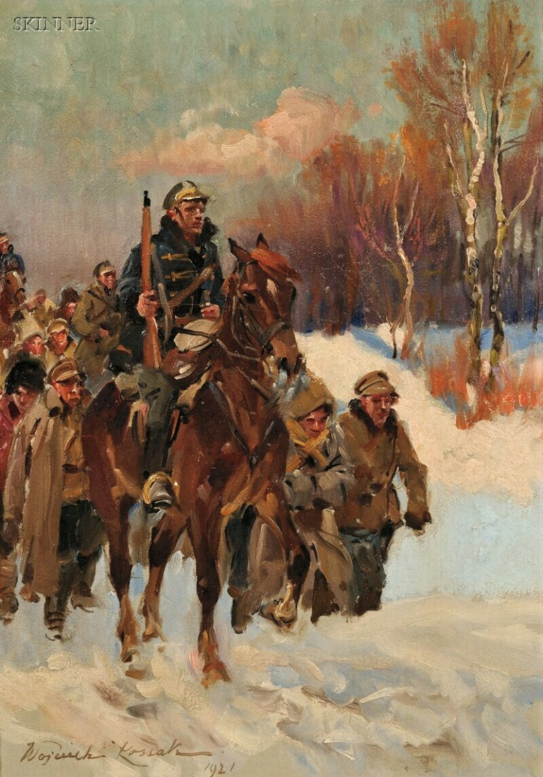 248: Wojciech Kossak (Polish, 1856-1942) Two Military S