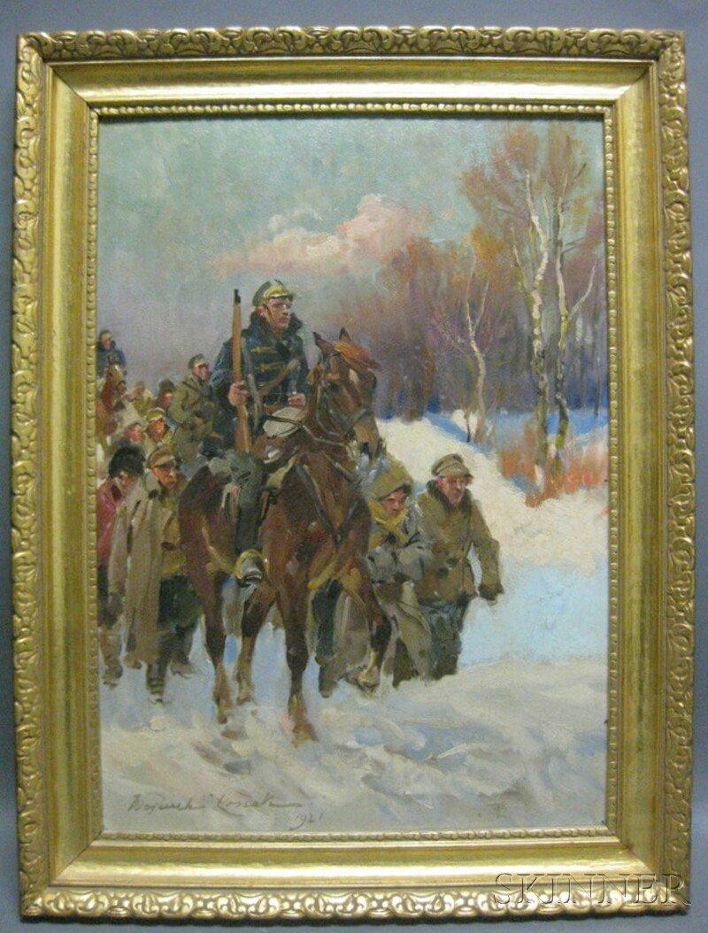 248: Wojciech Kossak (Polish, 1856-1942) Two Military S - 9