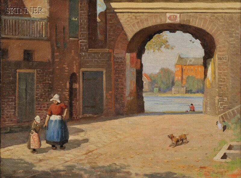 268: Harold C. Dunbar (American, 1882-1953) Dutch Town
