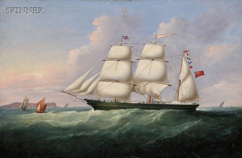 270: Francis Hustwick (British, 1797-1865) The Bark Res