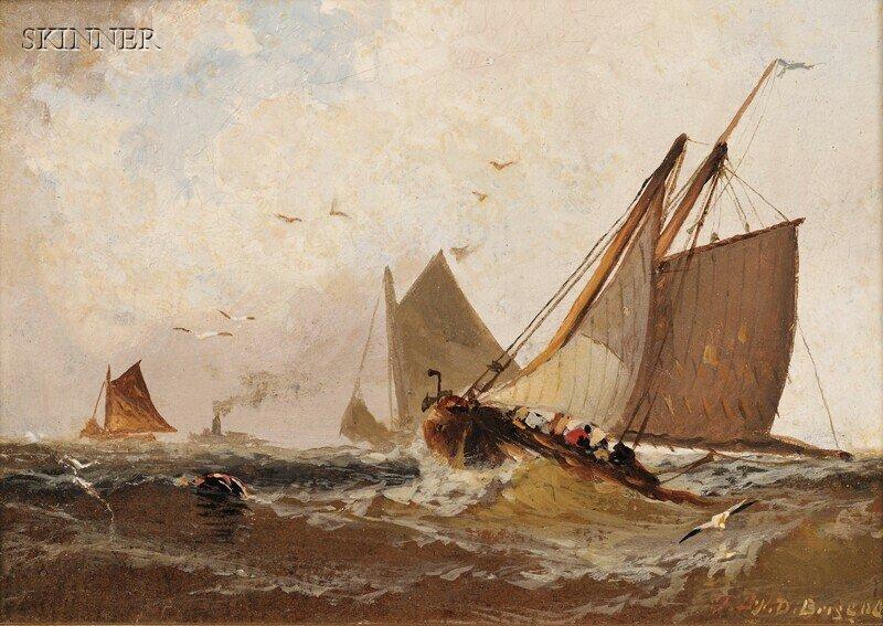 274: Franklin Dullin Briscoe (American, 1844-1903) Two