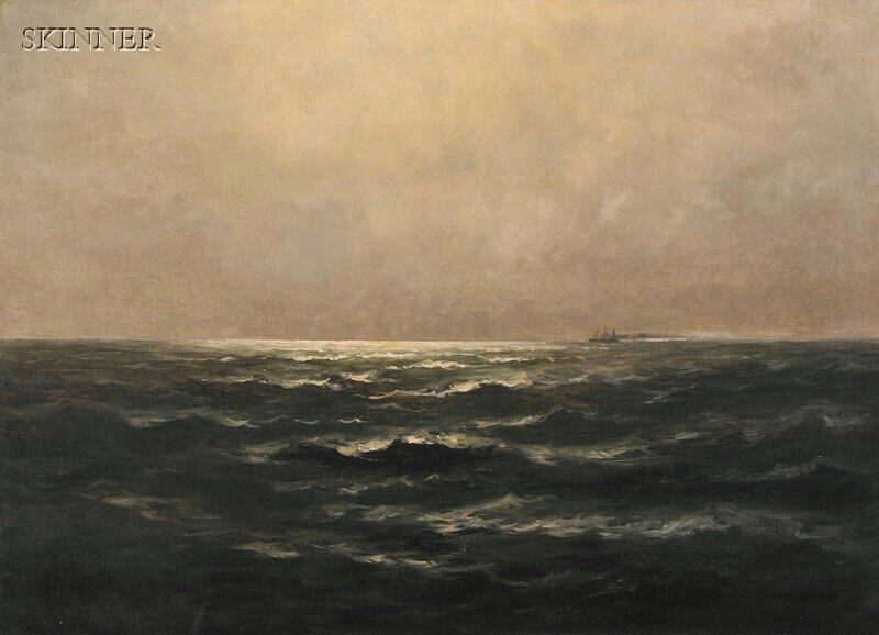 275: Wesley Elbridge Webber (American, 1841-1914) Moonl