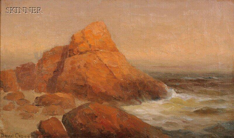 278: Bryant Chapin (American, 1859-1927) Rocky Coastal
