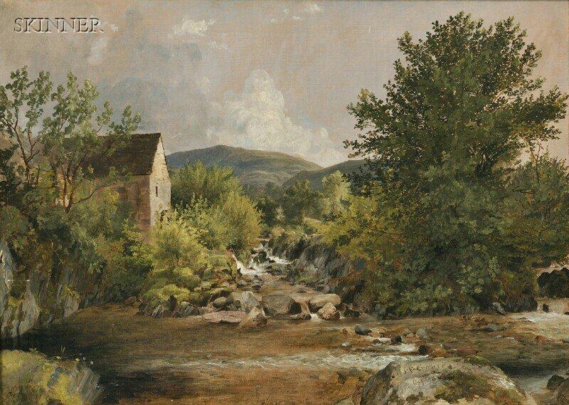 282: Jasper Francis Cropsey (American, 1823-1900) The O