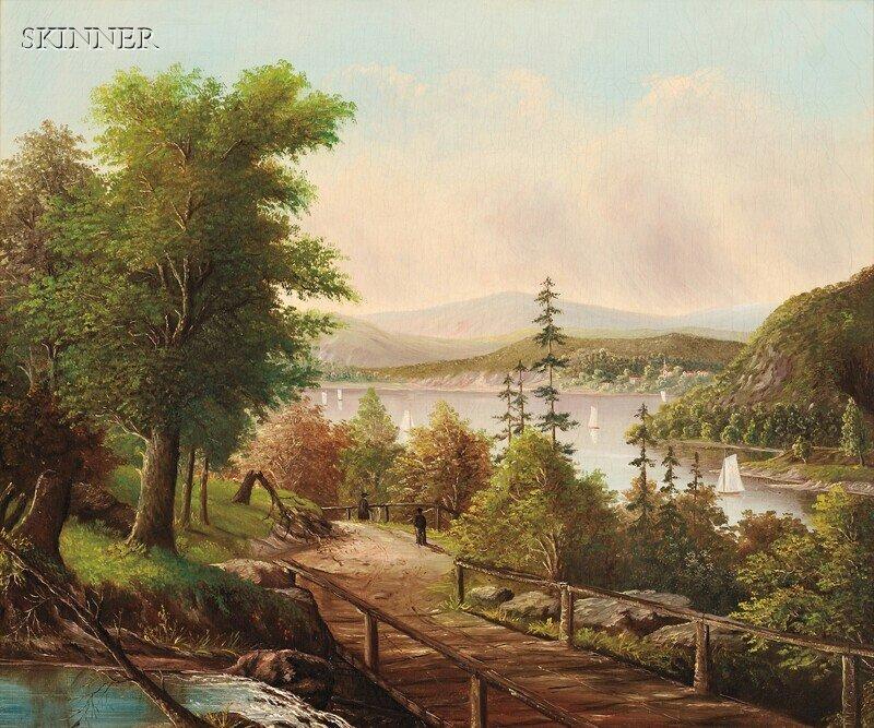 288: American School, 19th Century Niagara Falls Seen f