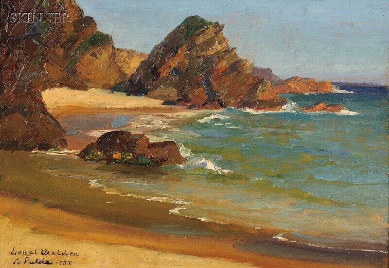 306: Lionel Walden (American, 1861-1933) Rocky Shore Si