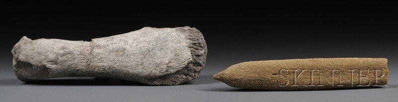 4: Two Bone Fragments Lyme Regis, Dorset, England Lower