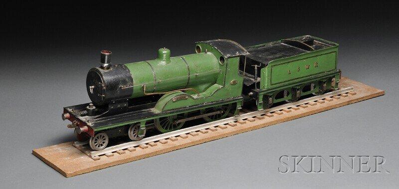 137: Model 4-4-0 British Style Steam Locomotive and Ten