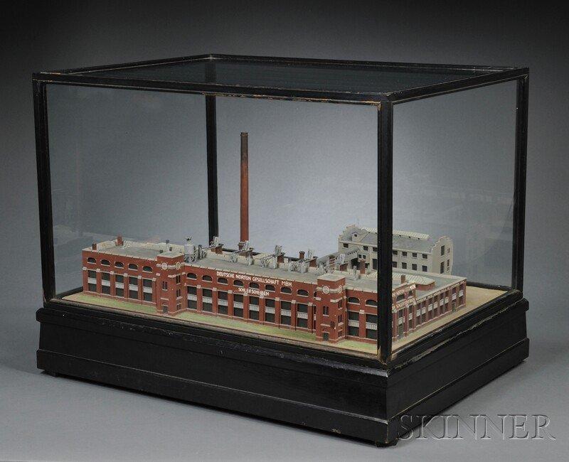 139: Model of Norton Company, Germany, wood model built