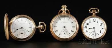 251 Three Goldfilled Pocket Watches South Bend Amer