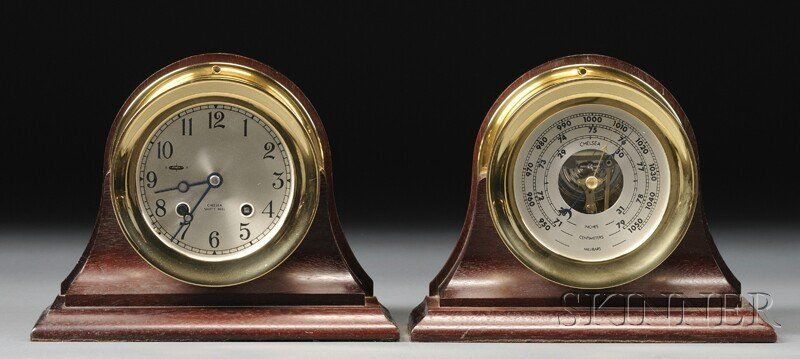 Chelsea Ship's Bell Clock and Barometer, Chelsea C