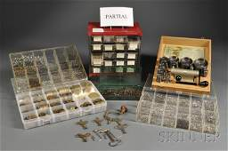 Collection of Clock Parts, Metal Stock and Hardwar