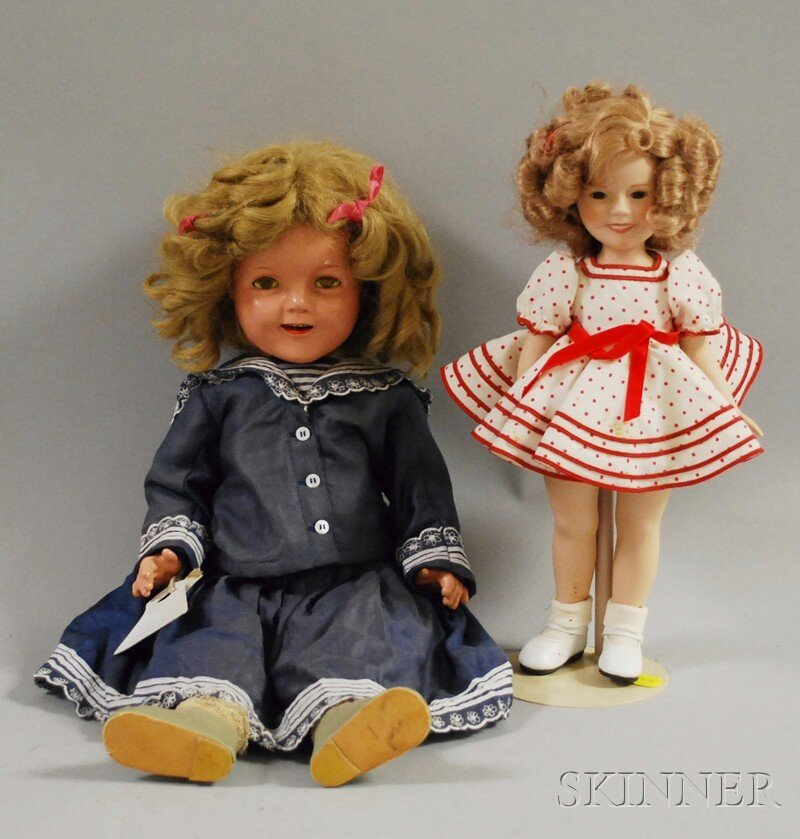 7: Ideal Shirley Temple Composition Doll and Bisque Shi