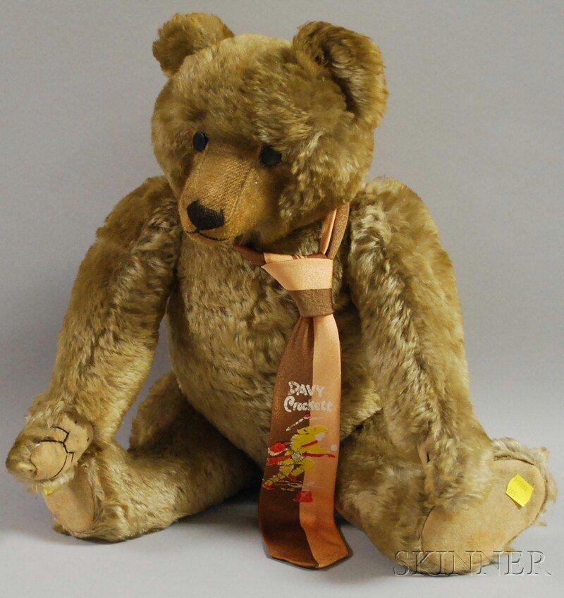 7B: Steiff-type Mohair Teddy Bear, 20th century, articu