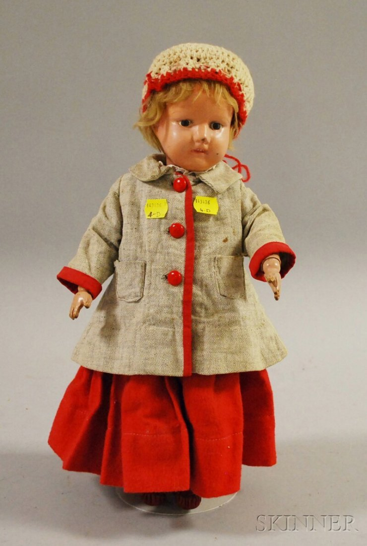 9: Schoenhut Doll with Molded Teeth, American, early 20
