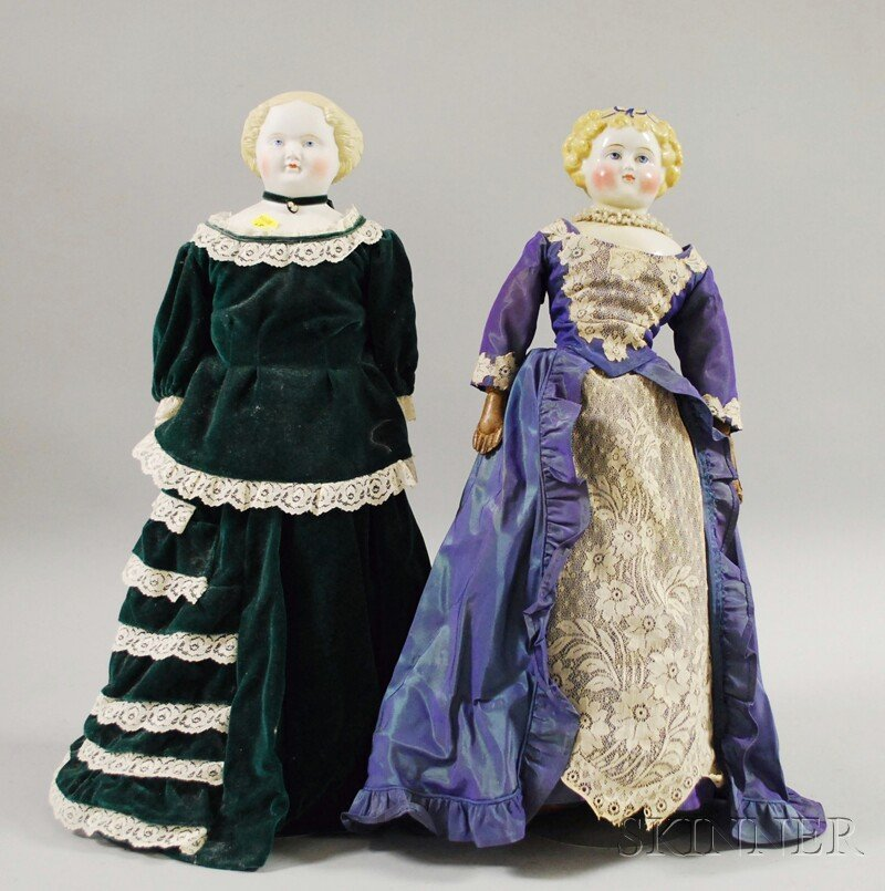 12: Blonde China Doll and Blonde Parian Doll, Germany,