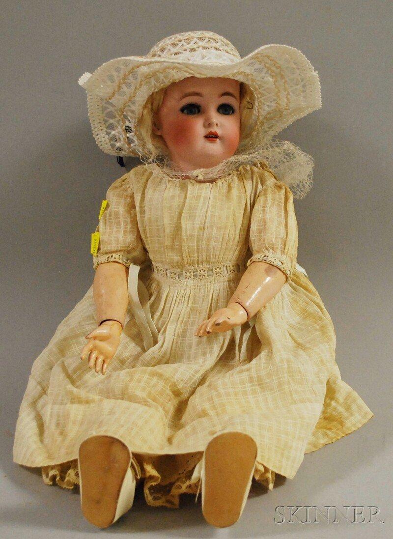 16: Simon Halbig Bisque Head Doll, Germany, marked Simo