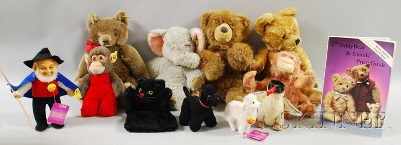 21: Eleven Steiff Mohair and Steiff-type Toys and a Col